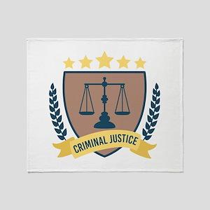 Criminal Justice Throw Blanket