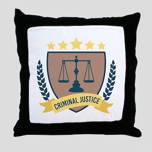 Criminal Justice Throw Pillow