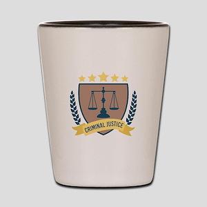 Criminal Justice Shot Glass