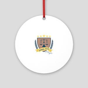 Criminal Justice Major Round Ornament