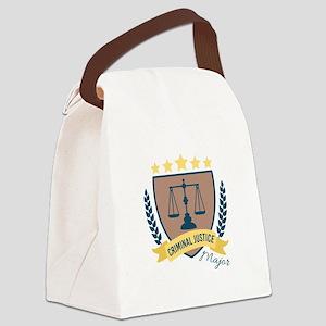 Criminal Justice Major Canvas Lunch Bag