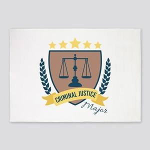 Criminal Justice Major 5'x7'Area Rug