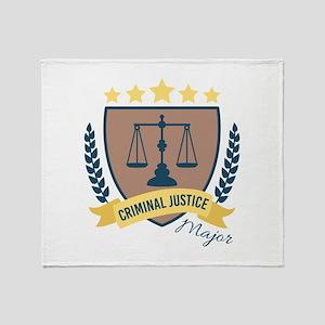 Criminal Justice Major Throw Blanket