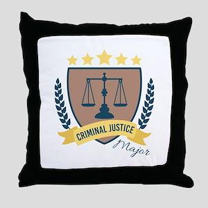 Criminal Justice Major Throw Pillow