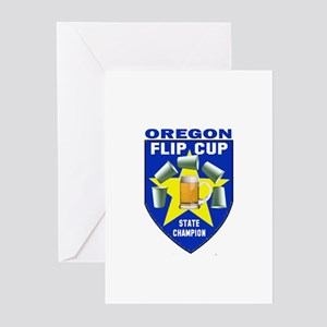 Oregon Flip Cup State Champio Greeting Cards (Pk o