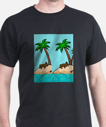 Chocolate Labrador Island T-Shirt
