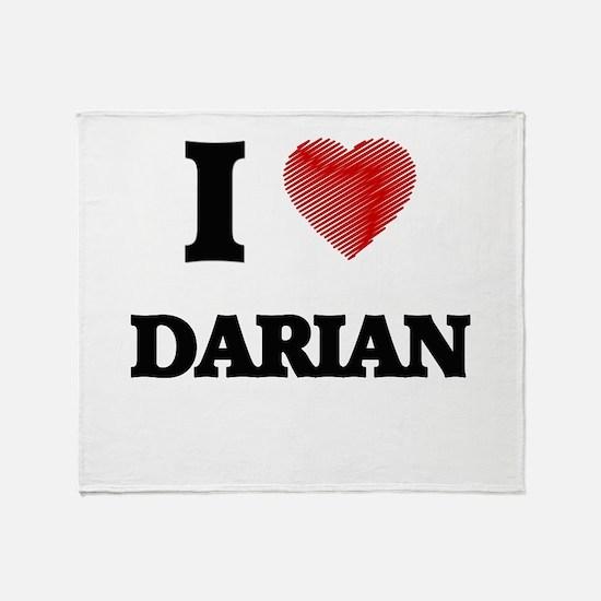 I love Darian Throw Blanket