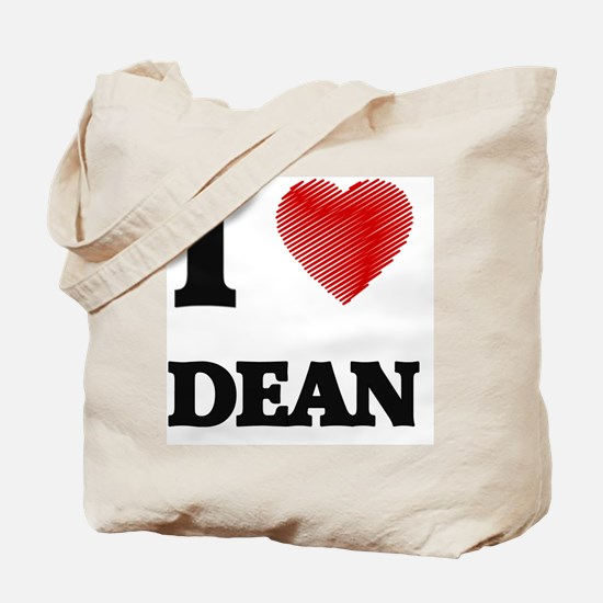 Cute I love dean Tote Bag
