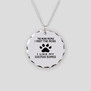 I Like My European Burmese C Necklace Circle Charm