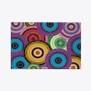 Colorful Circles Rectangle Magnet