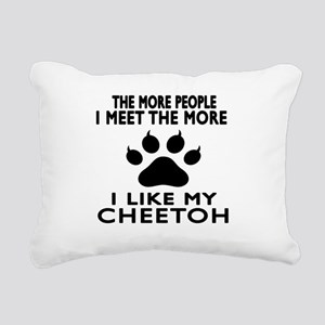 I Like My Cheetoh Cat Rectangular Canvas Pillow