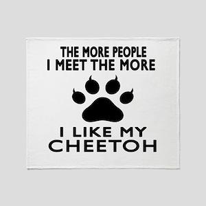 I Like My Cheetoh Cat Throw Blanket