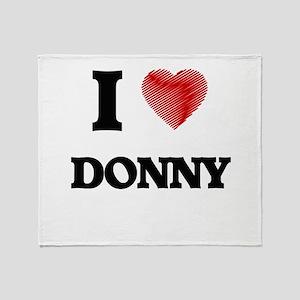 I love Donny Throw Blanket