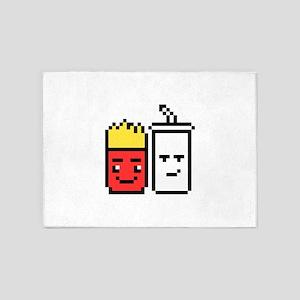 8 Bit Fries and Shake 5'x7'Area Rug