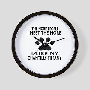 I Like My Chantilly Tiffany Cat Wall Clock