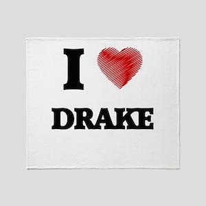 I love Drake Throw Blanket