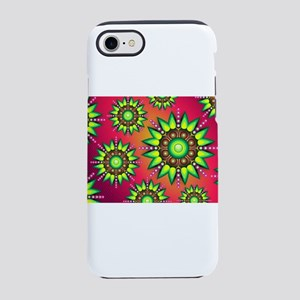 Green Triangle Flowers on Su iPhone 8/7 Tough Case