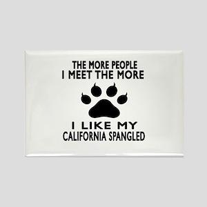 I Like My California Spangled Cat Rectangle Magnet