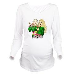 Green Goddesses - Long Sleeve Maternity T-Shirt