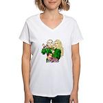 Green Goddesses - Women's V-Neck T-Shirt