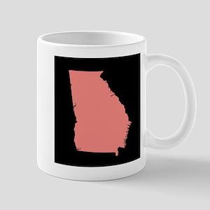 georgia peach black Mug