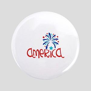 Patriotic America Button