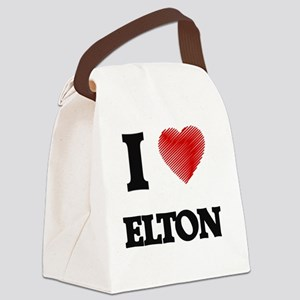 I love Elton Canvas Lunch Bag