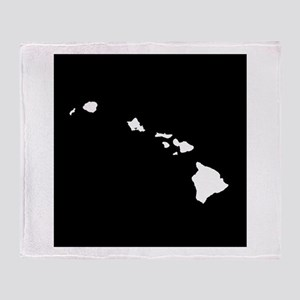 hawaii white black Throw Blanket