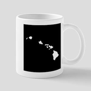 hawaii white black Mug