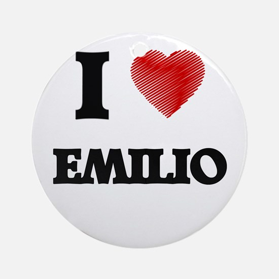 I love Emilio Round Ornament
