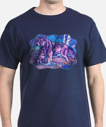 Blue Wolf Wolves & Pup T-Shirt