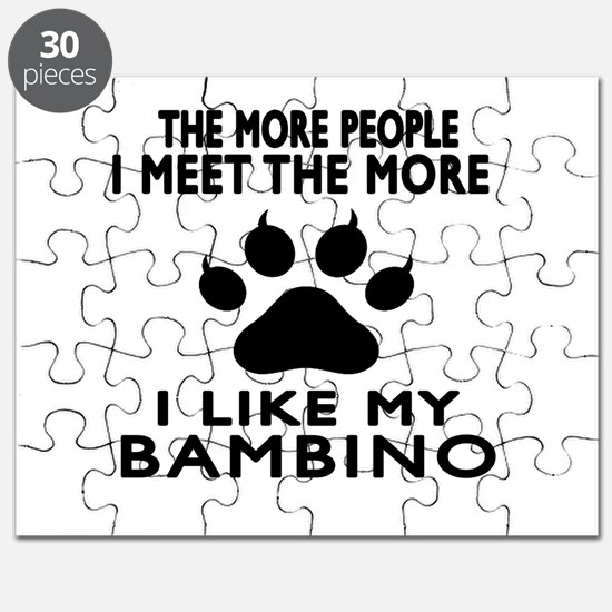 I Like My Bambino Cat Puzzle