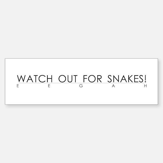 Watch Out For Snakes Bumper Bumper Bumper Sticker