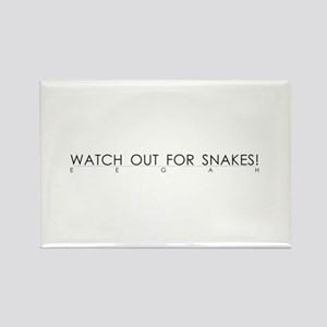 Watch Out For Snakes Rectangle Magnet (10 pack)