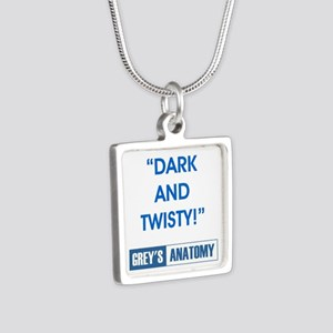 DARK & TWISTY! Silver Square Necklace