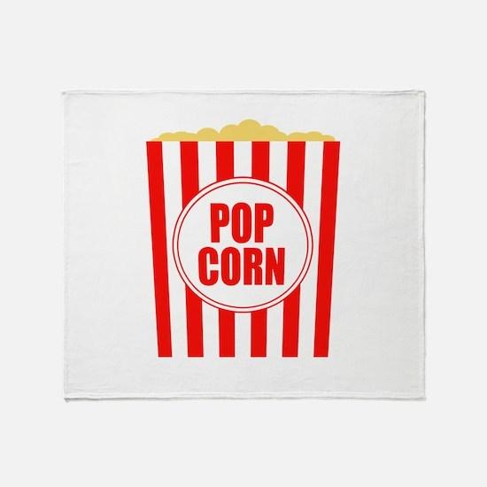 Movie Theater Popcorn Throw Blanket