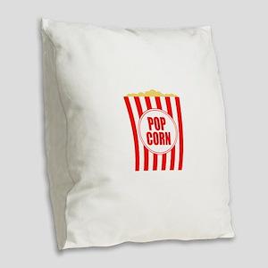 Movie Theater Popcorn Burlap Throw Pillow