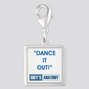 DANCE IT OUT! Silver Square Charm