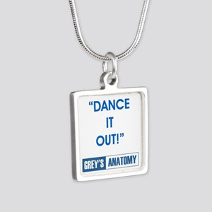 DANCE IT OUT! Silver Square Necklace
