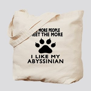 I Like My Abyssinian Cat Tote Bag