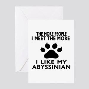 I Like My Abyssinian Cat Greeting Card