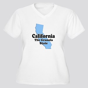 California Granola State Women's Plus Size V-Neck