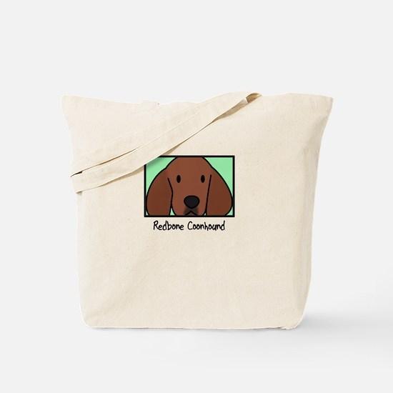 Anime Redbone Coonhound Tote Bag