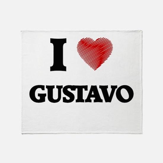 I love Gustavo Throw Blanket
