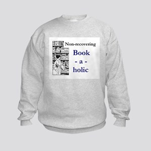 Non-recovering Book-a-holic Kids Sweatshirt