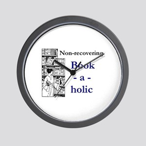 Non-recovering Book-a-holic Wall Clock