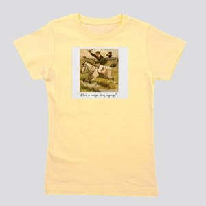 Equestrian Trainer - Who's in charge he Girl's Tee