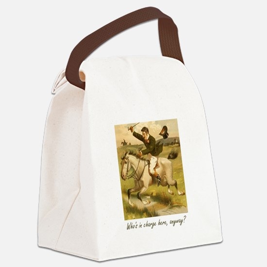 Equestrian Trainer - Who's in cha Canvas Lunch Bag