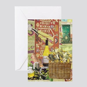 Wine and Cheese Greeting Cards