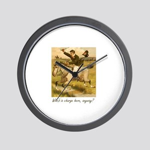 Equestrian Trainer - Who's in charge he Wall Clock